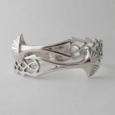 Beautiful Handmade Ornate Sterling Silver Sugar Tong Bracelet dated circa 1758